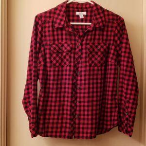Croft & Barrow Red/Black Check Shirt